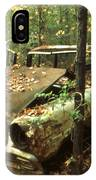 Car Wreck In The Forest IPhone Case