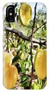 Carambola Fruit On The Tree IPhone Case