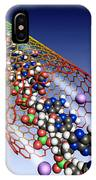 Carbon Nanotube, Ions And Dna IPhone Case