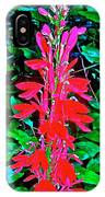 Cardinal Flower Near Schroon River In The Adirondacks-new York  IPhone Case