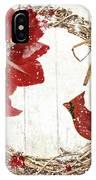 Cardinal Holiday II IPhone Case