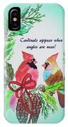 Cardinals Painted By Laurel Adams IPhone Case