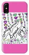 Caregivers Spread Joy IPhone Case