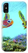 Caribbean Sea Turtle And Reef Fish IPhone Case