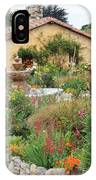 Carmel Mission Courtyard Garden IPhone Case