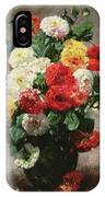Carnations In A Vase IPhone Case