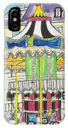 Carousel Paris Illustration Hand Drawn IPhone Case