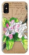 Carte Postale. Blossoming Apple IPhone Case