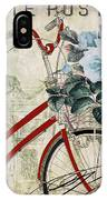 Carte Postale Vintage Bicycle IPhone Case