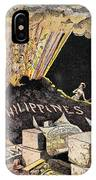 Cartoon: Philippines, 1899 IPhone Case