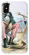 Cartoon: Uncle Sam, 1893 IPhone Case
