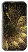 Carved In Gold IPhone Case