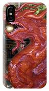 Carved Wood Dragon With Ball In Mouth IPhone Case