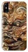 Carvings In Jade - 3 - A Dragon's Face  IPhone Case