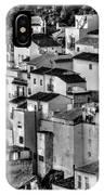 Casares Pueblo. Black And White IPhone Case