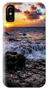 Cascading Water At Sunset IPhone Case