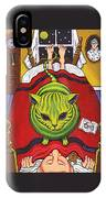 Cat - Alien Abduction IPhone Case