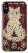 Cat And Flowers. Macrame Art IPhone Case