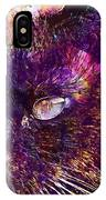 Cat Black View Close  IPhone Case