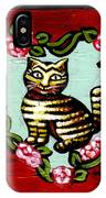 Cat In Heart Wreath 2 IPhone Case