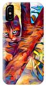Cat In Tree IPhone Case