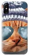 Cat Kitty Kitten In Clothes Aviators Toque Beanie IPhone Case