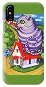 Cat On A Red Tin Roof IPhone Case