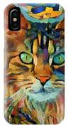 Cat On Colors IPhone Case