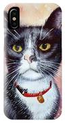 Cat Painting Cat Portrait Watercolor Cat Cat Art Cat Lover Gift Animal Portrait Watercolor Original IPhone Case