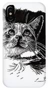 Cat With Ink IPhone Case