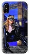 Cat Woman In London IPhone Case