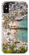 Catalina Island Avalon Waterfront Aerial Photo IPhone Case