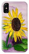 Catching A Sunflower  IPhone Case