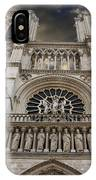 Cathedral Notre Dame Of Paris. France   IPhone Case