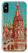 Cathedral Of St. Basil, Moscow Russia IPhone Case