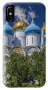 Cathedral Of The Assumption At Trinity Lavra Of St. Sergius In Sergiyev Posad, Russia IPhone Case