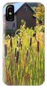 Cattails And Barn IPhone Case