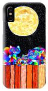 Catting In The Moonlight IPhone Case