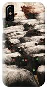 Cattle With Snow On Their Backs IPhone Case