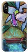 Cattleya Orchid And Frog By The Window IPhone Case