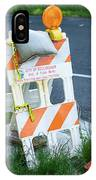 Caution, Road Work IPhone Case