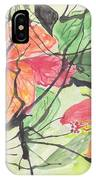 Cayenas Atrapadas  Hibiscus IPhone Case