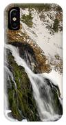 Cedar Creek Falls Winter IPhone Case