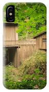 Cedar Creek Mill And Covered Bridge IPhone Case