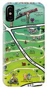 Cedar Park Texas Cartoon Map IPhone Case
