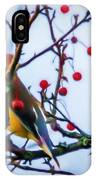 Cedar Waxwing Painting IPhone Case