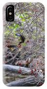 Cedar Waxwings Feeding IPhone Case
