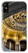 Ceiling And Chandelier In Bellagio IPhone Case