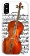 Cello With Clara Bow IPhone Case