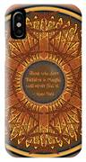 Celtic Dragonfly Mandala In Orange And Brown IPhone X Case